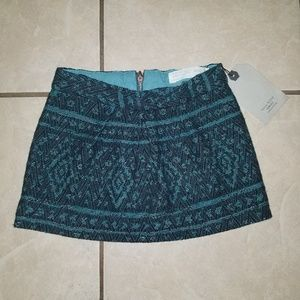 Zara girls casual collection embroidered skirt 4
